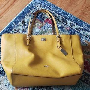 Coach Mustard / Yellow Zip Tote Bag